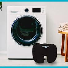 Washing machine and cushion