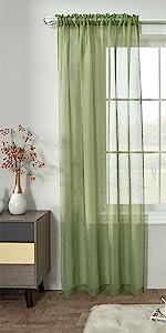 Semi Rod Pocket Sheer Curtains
