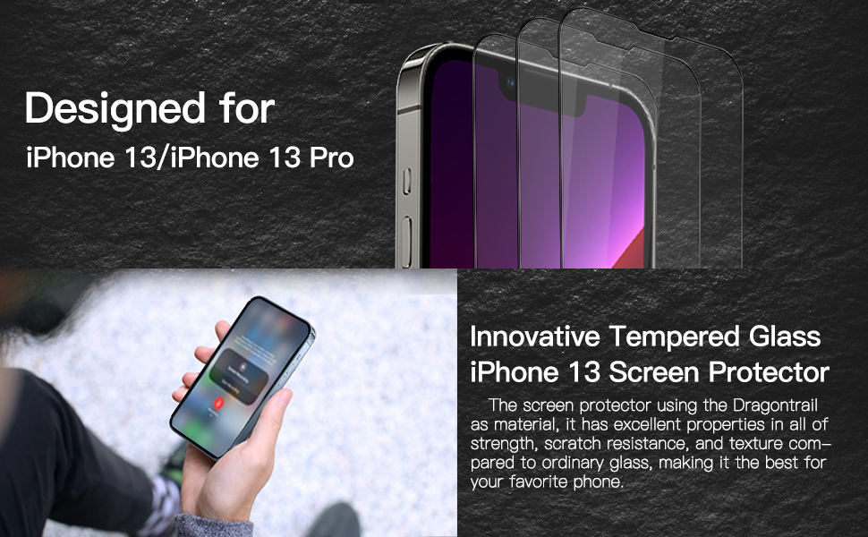 Innovative Tempered Glass Screen Protector Designed for iPhone 13/iPhone 13 Pro