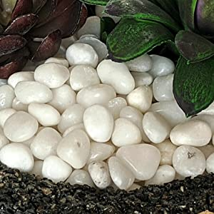 midwest hearth white pebbles closeup