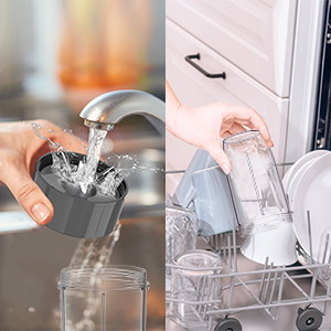 Easy Rinse clean also dishwasher safe on the top rack