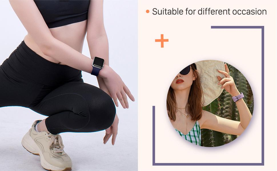 GEAK Compatible with 40mm Apple watch band for women