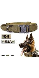 Tactical Dog Collar Brown