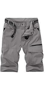 Short Cargo Pants Below Knee Pants for Men Quick Dry Mens Loose Fit Summer Pants for Men