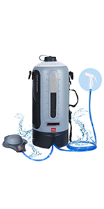 shower camping portable, portable shower pump, outdoor camping shower, shower bag for camping, camp