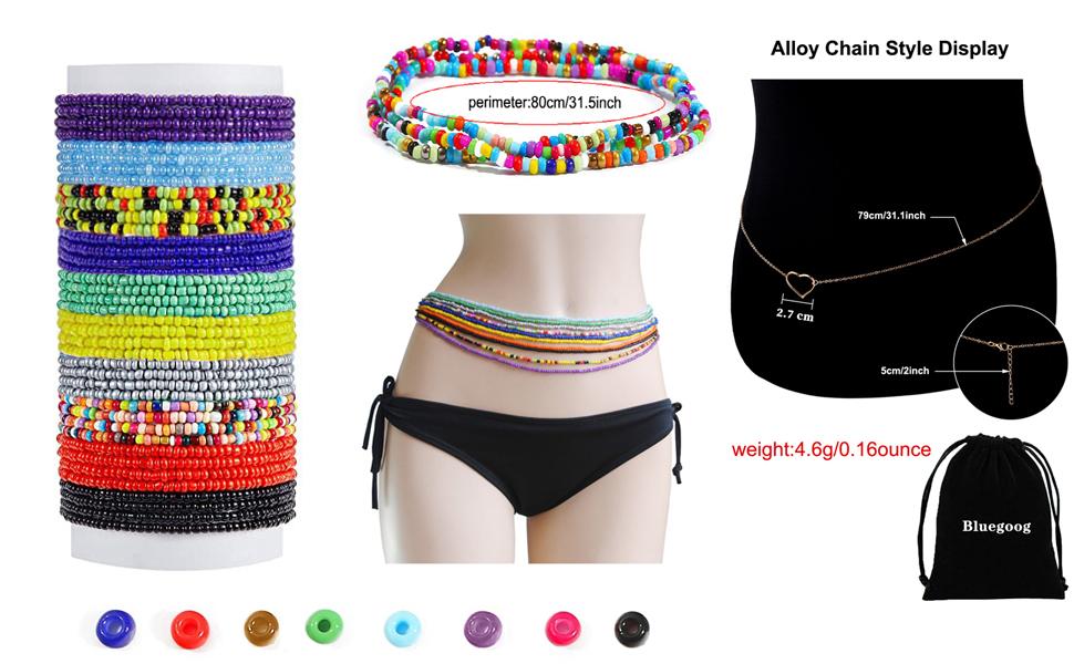 Belly Waist Necklace Chain Summer Jewelry Bikini Body Chain for Women