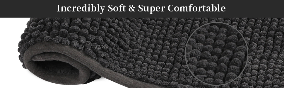 SHIMAKYO incredibly soft and super comfortable chenille bathroom rug