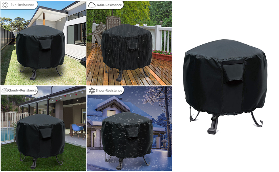 Round Fire Pit Covers