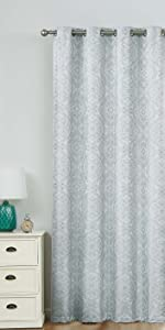 light teal turquoise room darkening light block window curtains for dining room decorative curtains