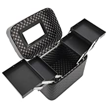 4 Layer Foldable Tray Makeup Cosmetic Case