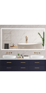 60 x28 led bathroom backlit mirror