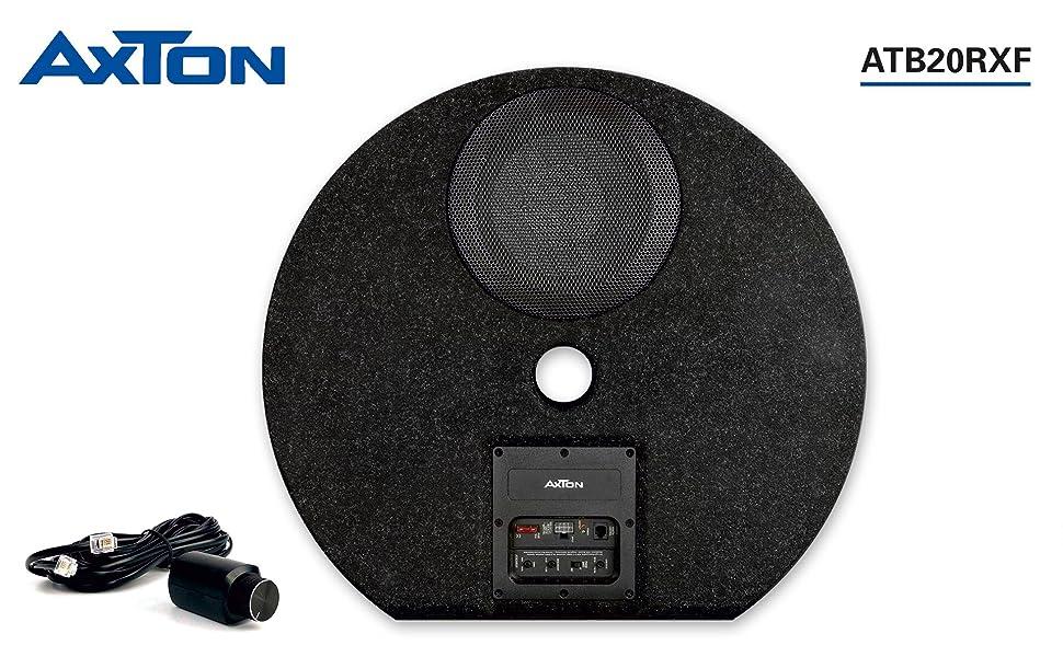 AXTON ATB20RXF: Aktiv-Subwoofer flach für Reserveradmulde Bassbox mit Verstärker
