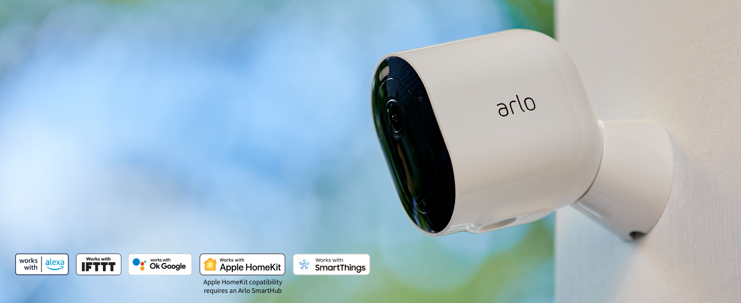 Arlo Pro 4 alexa ifttt ok google apple homekit smart things