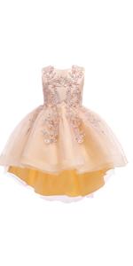 hi-lo girl party dress