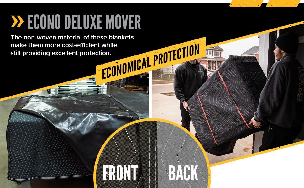 econo deluxe moving blanket is a cost effective solution