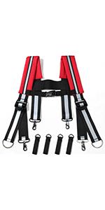 Tool Belt Suspenders Reflective Strap