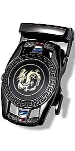 black dragon buckle belt removable