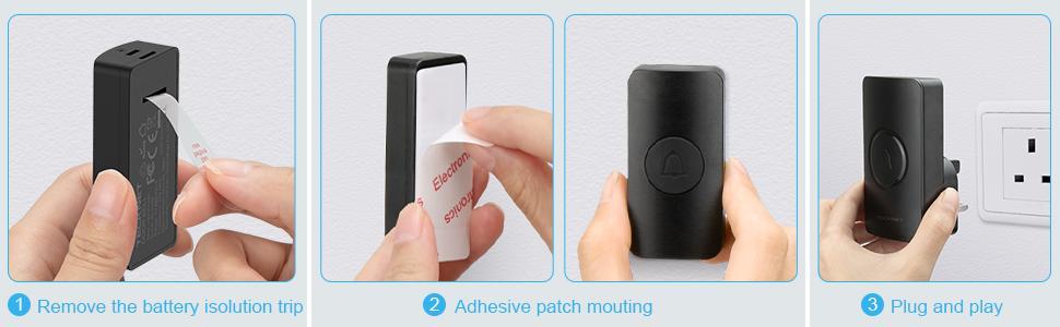 easy to install doorbell