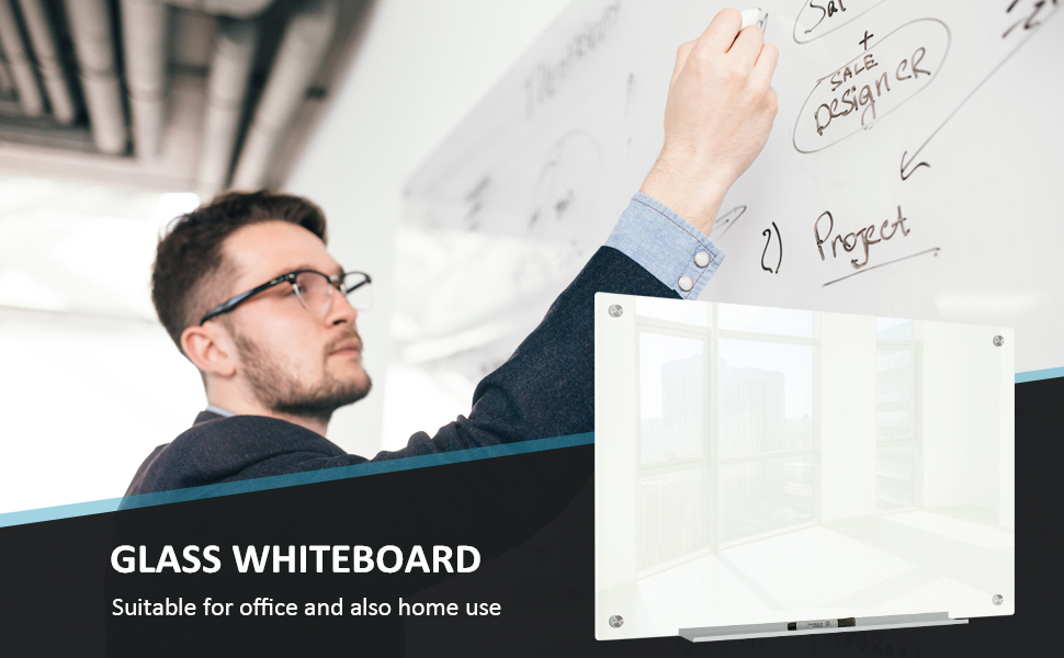 MAGNETIC POSTING – Multifunctional magnetic glass whiteboard