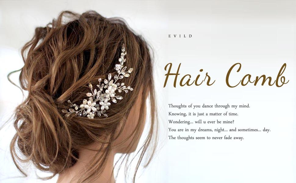 flower wedding hair comb