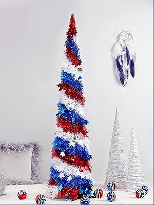 Tinsel Christmas Pull Up tree