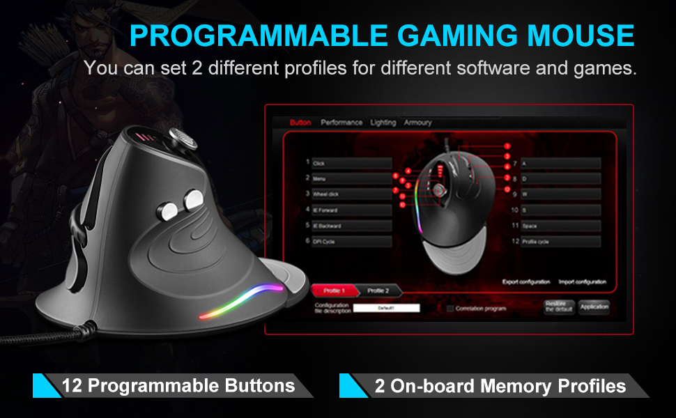 2 different profiles for different software and games