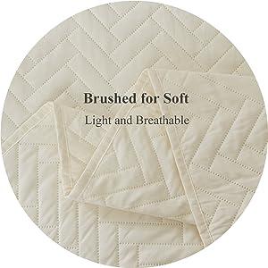dark ivory bedspread quilt set