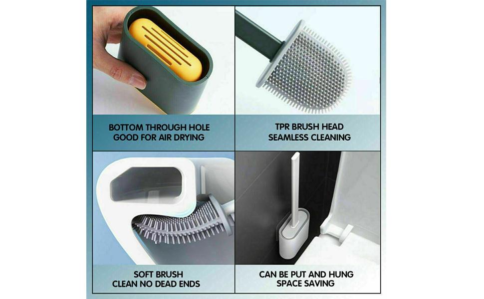 Toilet Cleaning Brush Set