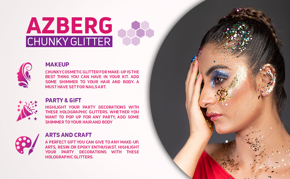 Chunky glitter for makeup Party gift and for arts and craft