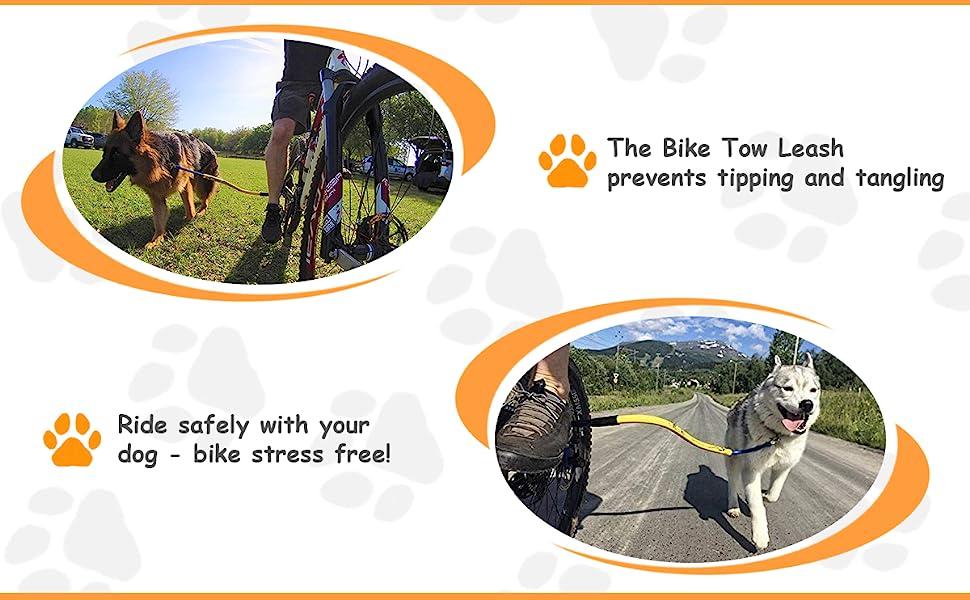 leon engineering, 1 running dog bike tow leash, one running dog bike tow leash, bike tow leash