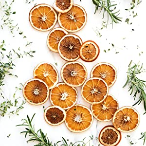 Perfectly sliced in half oranges