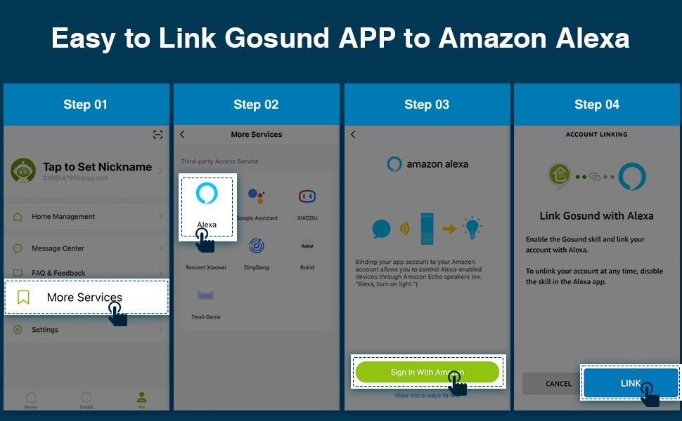 easy to link gosund app to alexa