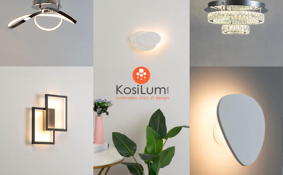 Luminaires designs chez Kosilum - appliques, suspensions, lustres, plafonniers.