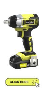 """20V Brushless Cordless Impact Wrench Kit 1/2"""" Hog Ring Anvil VirableHigh Torque,"""
