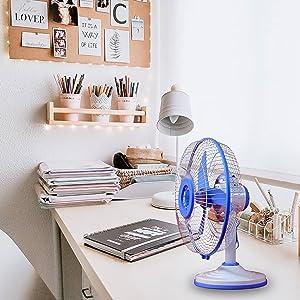 """Lovely Solar Fan DC 12V 24W 12"""" SanChi Table Fan"""