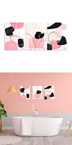 black pink abstract art