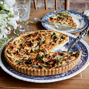 Quiche Esther with butternut Squash and Kale