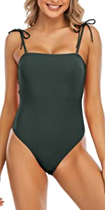 HAIVIDO High Cut One Piece Removable Straps Rib Textured
