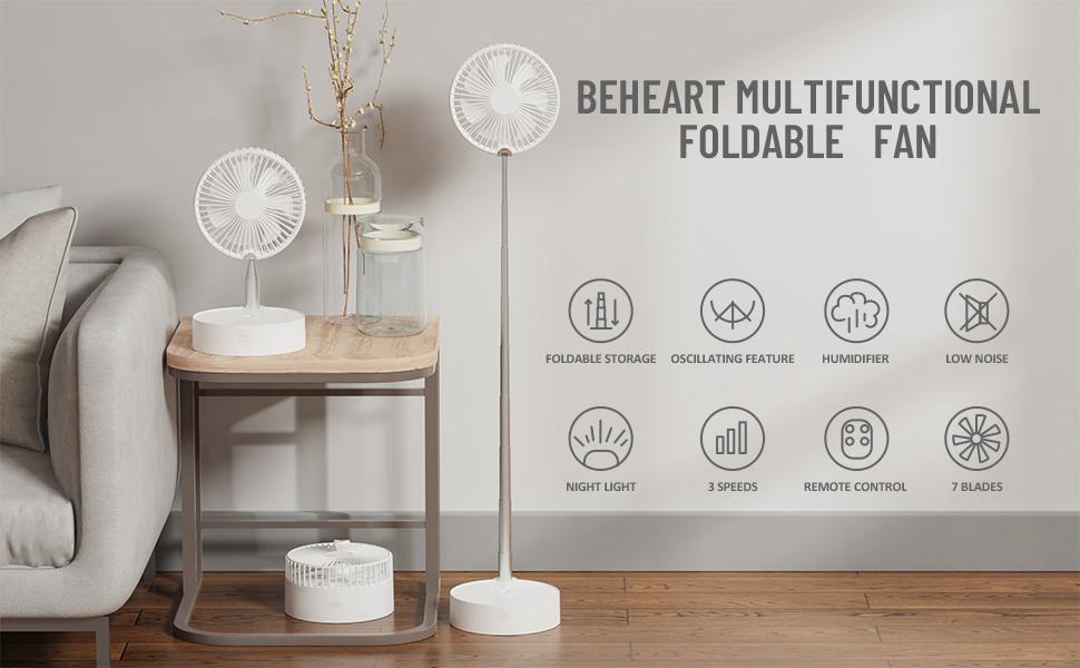Beheart multifunctional foldable fan
