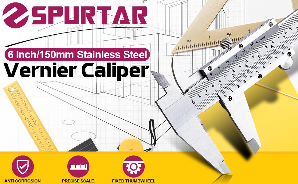 6 inch /150 mm Stainless Steel Vernier Caliper