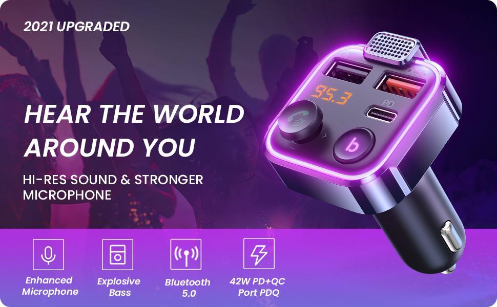 Bluetooth Car Adapter Fm transmitter for car