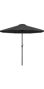 9 ft Patio Umbrella (Black)