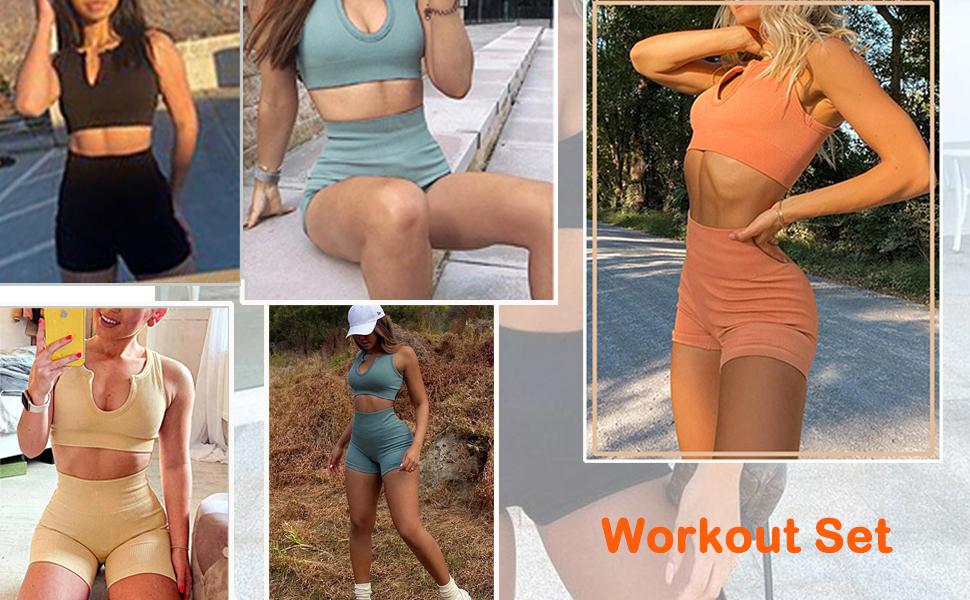 seamless workout set shorts