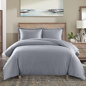 Cotton polyester belnded duvet cover set