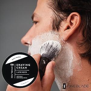 OneBlade Black Tie Shaving Cream luxurious eliminates razor burn smooth skin skincare natural