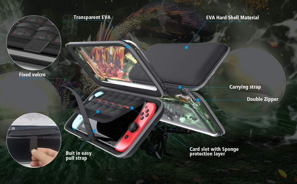 Moster Hunter Rise Theme OIVO carrying case