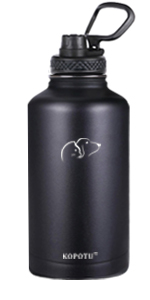 Insulated water bottle (black)