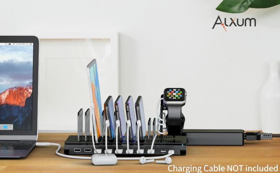 usb c pd charging station for multiple devices 10 port desktop charger