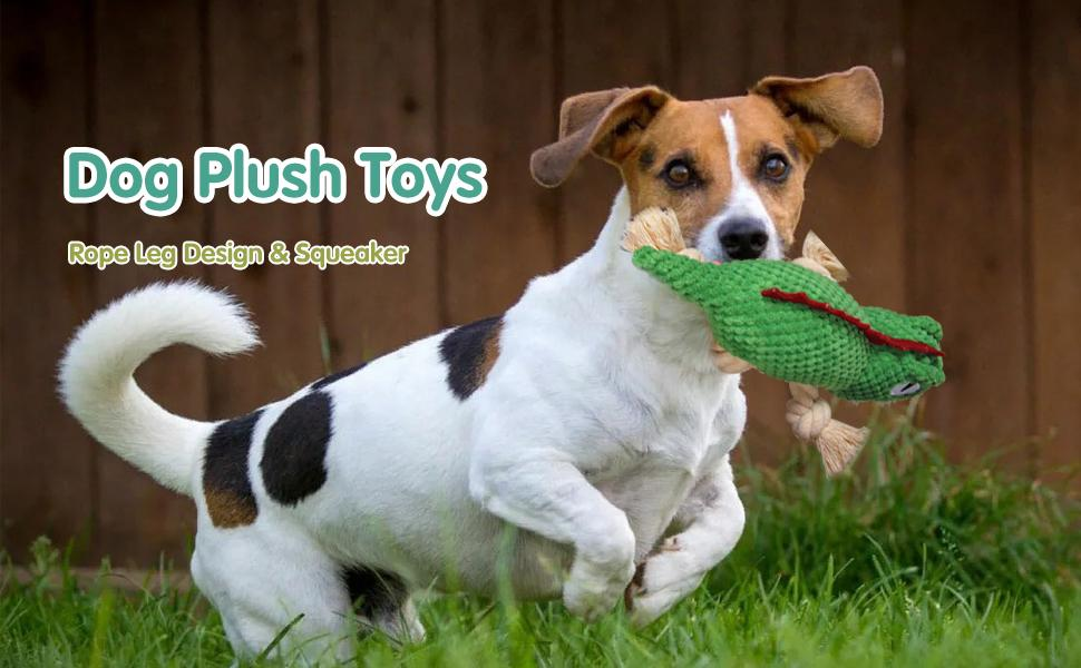 Squeaky Interactive Puppy Dog Toys with Crinkle Paper