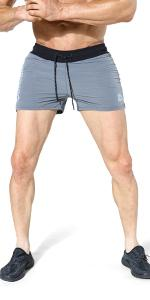 Mens 2-in-1 Gym Running Shorts,Lightweight Workout Athletic Shorts Elastic Waistband with Pockets